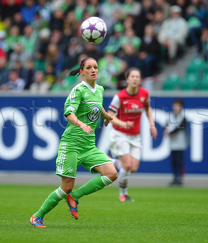 21.04.2013. Wolfsburg, Germany. Womens Champions League, Wolfsburg versus Arsenal, second leg.  Selina WAGNER (VfL Wolfsburg)