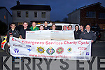 Pictured at the presentation of cheques for Kerry Cancer Support Group and the Order of Malta (€4,600 to each), which were the proceeds of the Kerry Emergency Services Cycle which raised nearly €10,000 on the 11th June last..Front row l-r: Colette Kiely (Order of Malta), Gearóid Constable (Paramedic), Sean Prendergast (Manager Kerry Cancer Support Group).Back row l-r: Dylan Sheehan, David O'Mahony (Chairman, Kerry Cancer Support Group), John O'Donnell (Tralee Fire Brigade), Susan Scully (Order of Malta), Mary Lynch (Kerry Cancer Support Group), Danielle Nagle (No Name Club) and Mikey Fleming