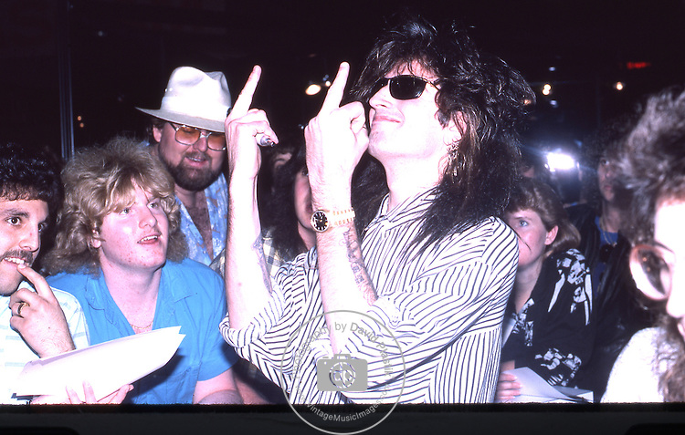 Tommy Lee of Motley Crue at The NAMM Convention in California 1986. Tommy Lee