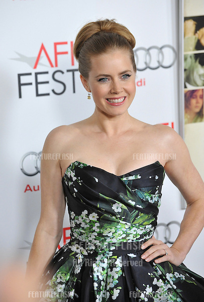 """Amy Adams at the AFI Fest premiere of her movie """"On The Road"""" at Grauman's Chinese Theatre, Hollywood..November 3, 2012  Los Angeles, CA.Picture: Paul Smith / Featureflash"""