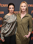 """Fionnula Flanagan and Genevieve O'Reilly attend the Meet the Broadway cast of """"The Ferryman"""" during the press photo call on October 4, 2018 at Sardi's in New York City."""
