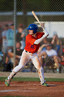 Harrison Ware (10) during the WWBA World Championship at the Roger Dean Complex on October 10, 2019 in Jupiter, Florida.  Harrison Ware attends Mountain Brook High School in Birmingham, AL and is committed to South Alabama.  (Mike Janes/Four Seam Images)