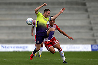 Arthur Iontton of Stevenage and Jake Taylor of Exeter City during Stevenage vs Exeter City, Sky Bet EFL League 2 Football at the Lamex Stadium on 10th August 2019