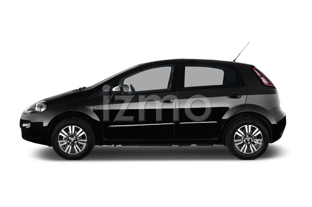 Car Driver side profile view of a 2014 Fiat PUNTO SPORTLINE 5 Door Hatchback 2WD Side View
