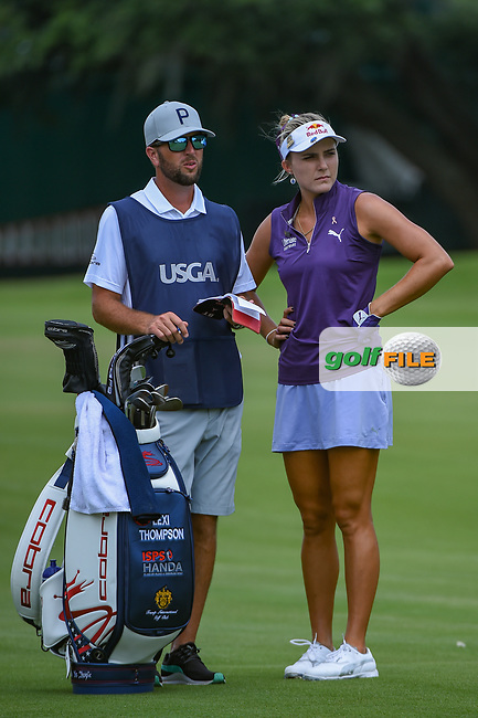 Lexi Thompson (USA) looks over her approach shot on 1 during round 2 of the 2019 US Women's Open, Charleston Country Club, Charleston, South Carolina,  USA. 5/31/2019.<br /> Picture: Golffile | Ken Murray<br /> <br /> All photo usage must carry mandatory copyright credit (© Golffile | Ken Murray)