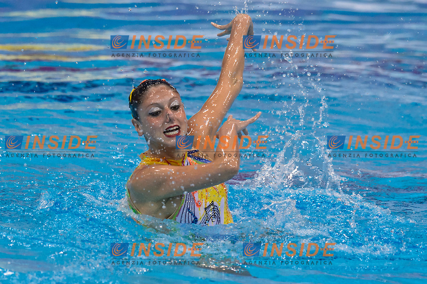 Linda CERRUTI ITA Italy Bronze Medal <br /> Solo Free Final <br /> London, Queen Elizabeth II Olympic Park Pool <br /> LEN 2016 European Aquatics Elite Championships <br /> Synchronized Swimming <br /> Day 02 10-05-2016<br /> Photo Andrea Staccioli/Deepbluemedia/Insidefoto