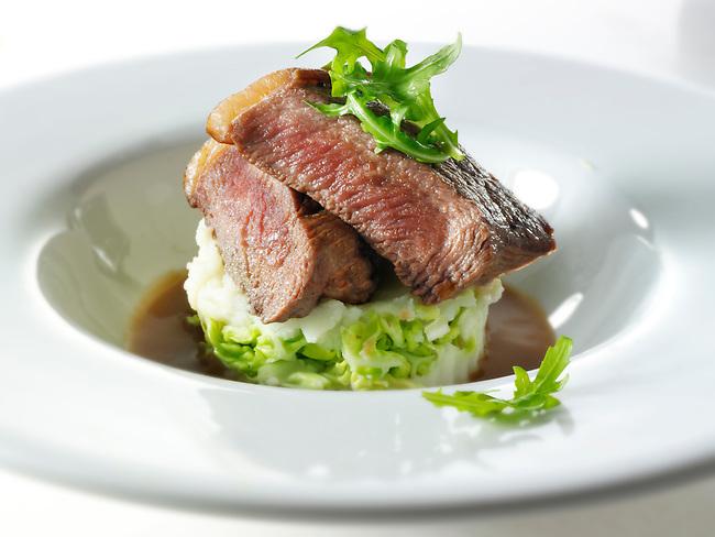 Sirloin Steak and leek mash