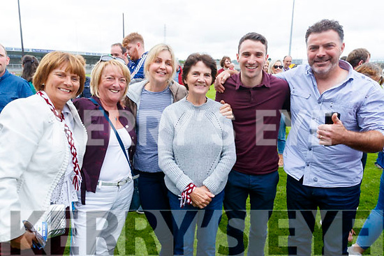 Causeway supporters pictured after the county hurling final  l-r: Josephine Leahy, Ann-Marie Casey, Carmel Carmody, Kay Carmody, Adrian Casey, and Declan Carmody.