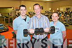 Killarney Sports and Leisure Centre have launched the 4th KIllarney's Biggest Loser competition to help encourage participants to lose weight and get fit and healthy. .L-R Gymn instructor ?, winner of Killarney's Biggest Loser, James Kissane and Gymn instructor,  Teresa Cahillane.