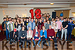 Padraig Harrington from Tralee, seated centre, celebrated his 18th birthday last Saturday night in the Kerins O'Rahilly's GAA club, Tralee along with many friends and guests.