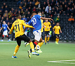 03.10.2019 Young Boys of Bern v Rangers: Alfredo Morelos caught by Ulisses Garcia but no penalty awarded