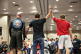 USA, Oahu, Hawaii, a winner is announced at the ICON grappling tournament in Honolulu
