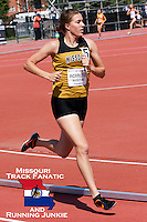 Missouri's Laura Roxberg runs to a school record and conference title in the 1500 meters at the Big 12 Outdoor Track and Field Championships in Manhattan, Ks. Sunday, May 15. Roxberg finished in 4:16.71 to break former All-American and relay national champion Ann-Marie Brooks Mizzou record and beat the competiton by nearly 3.5 seconds.