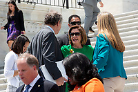 Speaker of the United States House of Representatives Nancy Pelosi (Democrat of California) departs a press conference on Capitol Hill in Washington D.C., U.S. to discuss health care coverage for those with pre-existing conditions on July 9, 2019.<br /> CAP/MPI/RS<br /> ©RS/MPI/Capital Pictures