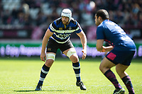 Dave Attwood of Bath Rugby looks on. European Rugby Challenge Cup Semi Final, between Stade Francais and Bath Rugby on April 23, 2017 at the Stade Jean-Bouin in Paris, France. Photo by: Patrick Khachfe / Onside Images
