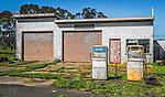 An abandoned service station in Winnaleah in Tasmania, Australia