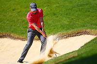 David Horsey plays his shot from the bunker at the #3 green  during the BMW PGA Golf Championship at Wentworth Golf Course, Wentworth Drive, Virginia Water, England on 25 May 2017. Photo by Steve McCarthy/PRiME Media Images.
