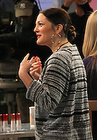 NEW YORK, NY - JANUARY 21: Drew Barrymore at Good Morning America in New York City to promote her new 'Flower' make up line. January 21, 2013. Credit: RW/MediaPunch Inc. /NortePhoto