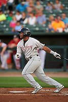 Wisconsin Timber Rattlers designated hitter Omar Cotto (33) at bat during a game against the Peoria Chiefs on August 21, 2015 at Dozer Park in Peoria, Illinois.  Wisconsin defeated Peoria 2-1.  (Mike Janes/Four Seam Images)