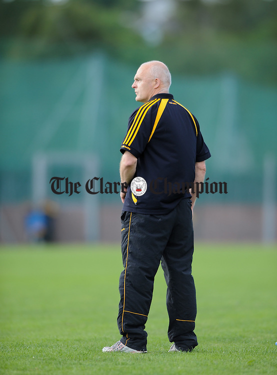 Colm Honan, mentor Clonlara during their senior championship game at Shannon. Photograph by John Kelly.