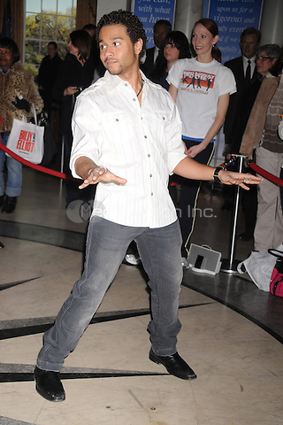 Corbin Bleu attends the 14th Annual Kids Night On Broadway Fan Festival at Madame Tussauds in New York City. February 2, 2010. Credit: Dennis Van Tine/MediaPunch