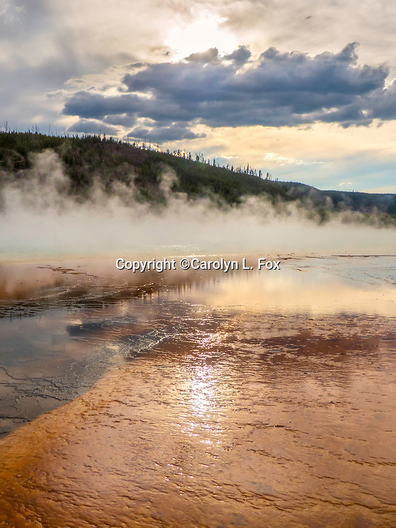 Midway Geyser Basin is a beautiful area in Yellowstone