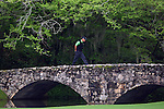 AUGUSTA, GA- APRIL 12:  Trevor Immelman of South Africa walks across the bridge on the 13th hole during a the 3rd round of the 2008 Masters on April 12, 2008 at Augusta National Golf Club in Augusta, Georgia. (Photo by Donald Miralle)
