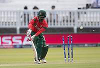 Tamim Iqbal (Bangladesh)  is bowled by Shaheen Afridi (Pakistan) during Pakistan vs Bangladesh, ICC World Cup Cricket at Lord's Cricket Ground on 5th July 2019