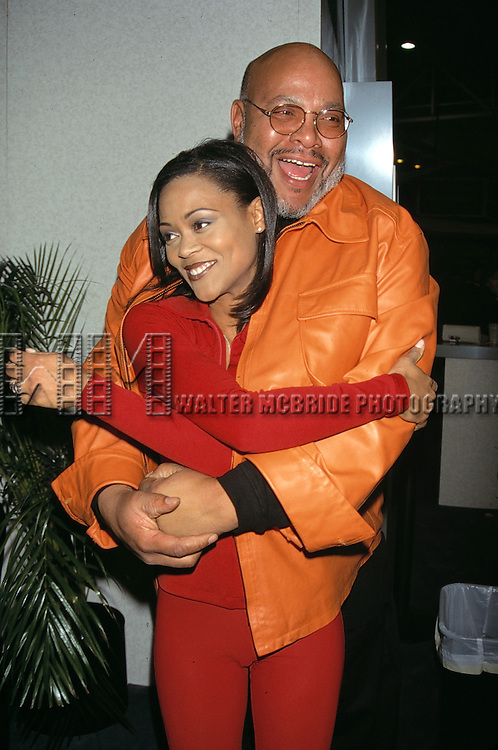 James Avery & Robin Givens attend the N.A.T.P.E. Convention in New Orleans on January 15, 1997