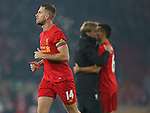 Jordan Henderson of Liverpool wears the rainbow armband in support of the LGBT community during the Premier League match at the Anfield Stadium, Liverpool. Picture date: November 26th, 2016. Pic Simon Bellis/Sportimage