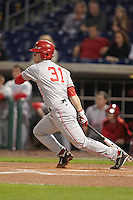 Ohio State Buckeyes outfielder Tim Wetzel #31 at bat during a game against the Seton Hall Pirates at the Big Ten/Big East Challenge at Florida Auto Exchange Stadium on February 18, 2012 in Dunedin, Florida.  (Mike Janes/Four Seam Images)