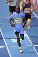 Photo: Tony Oudot/Richard Lane Photography. Aviva World Trials & UK Championships. 13/02/2010. .Mens 400m. .Nigel Levine wins the race