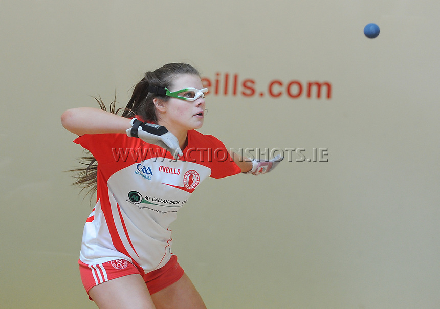19/03/2018; 40x20 All Ireland Juvenile Championships Finals 2018; Kingscourt, Co Cavan;<br /> Girls Under-16 Singles; Kilkenny (Rois&iacute;n O&rsquo;Keefe) v Tyrone (Mairead Fox)<br /> Mairead Fox<br /> Photo Credit: actionshots.ie/Tommy Grealy
