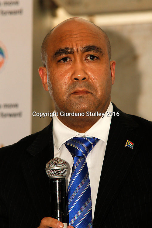 DURBAN - 12 April 2016 - Advocate Shaun Abrahams, the National Director of Public Prosecutions addresses KwaMashu community members who voiced their concerns of crime and police corruption during a Justice, Crime Prevention and Security community outreach programme held in Durban's KwaMashu township. Picture: Allied Picture Press/APP