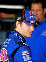 Oct. 10, 2009; Fontana, CA, USA; NASCAR Sprint Cup Series driver Jeff Gordon during practice for the Pepsi 500 at Auto Club Speedway. Mandatory Credit: Mark J. Rebilas-