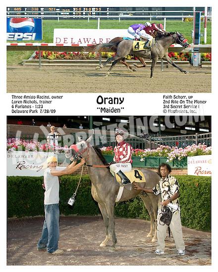 Orany winning at Delaware Park on 7/28/09