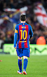 Lionel Andres Messi of FC Barcelona walks on the pitch during their Copa del Rey 2016-17 Semi-final match between FC Barcelona and Atletico de Madrid at the Camp Nou on 07 February 2017 in Barcelona, Spain. Photo by Diego Gonzalez Souto / Power Sport Images