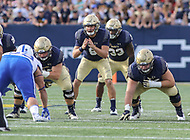 Annapolis, MD - October 7, 2017: Navy Midshipmen quarterback Zach Abey (9) calls a play during the game between Air Force and Navy at  Navy-Marine Corps Memorial Stadium in Annapolis, MD.   (Photo by Elliott Brown/Media Images International)