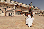 Israel, Jerusalem. Ultra Orthodox Jewish children in costumes on Purim holiday at the Me?a She?arim quarter, 2005<br />