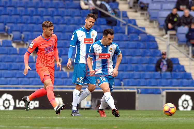 League Santander 2016/2017. Game: 19.<br /> RCD Espanyol vs Granada CF: 3-1.<br /> Jurado.