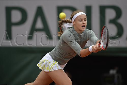28.05.2014. Roland garros, Paris, France. French Open tennis tournament.  Anna Schmiedlova (SVK) plays Venus Williams (USA) and wins in 3 sets