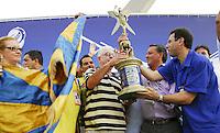 RIO DE JANEIRO - RJ - CARNAVAL 2012 - Fernando Horta, presidente da escola de samba Unidos da Tijuca, durante a apuração dos desfiles do Carnaval 2012 no Rio, realizada no Sambódromo da Marquês de Sapucaí, nesta quarta-feira. A agremiação ganhou o título do torneio. FOTO: RONALDO BRANDÃO/BRAZIL PHOTO PRESS