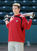 USC catcher Brady Thomas (36) prior to a game between the Clemson Tigers and South Carolina Gamecocks Saturday, March 6, 2010, at Fluor Field at the West End in Greenville, S.C. Photo by: Tom Priddy/Four Seam Images