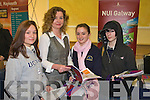 CHOICE: Students from Cola?iste na Sceilge Caherciveen, at the NUI Galway Stand on Tuesday at the Careers Fair in the Brandon Hotel, Tralee. Standing l-r: Christine Tyler, Celine O'Donovan, Niamh Phayar & Fern Ashworth.