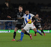 Burnley's Jeff Hendrick (left) battles with Brighton &amp; Hove Albion's Jurgen Locadia (right) <br /> <br /> Photographer David Horton/CameraSport<br /> <br /> The Premier League - Brighton and Hove Albion v Burnley - Saturday 9th February 2019 - The Amex Stadium - Brighton<br /> <br /> World Copyright &copy; 2019 CameraSport. All rights reserved. 43 Linden Ave. Countesthorpe. Leicester. England. LE8 5PG - Tel: +44 (0) 116 277 4147 - admin@camerasport.com - www.camerasport.com