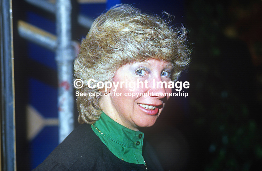 Penny Longden, secretary, agent, for John Carlisle, MP, Conservative Party, UK, October 1986, 19861013PL<br /> <br /> Copyright Image from Victor Patterson, 54 Dorchester Park, Belfast, UK, BT9 6RJ<br /> <br /> Tel: +44 28 9066 1296<br /> Mob: +44 7802 353836<br /> Voicemail +44 20 8816 7153<br /> Skype: victorpattersonbelfast<br /> Email: victorpatterson@me.com<br /> Email: victor@victorpatterson.com<br /> <br /> IMPORTANT: If you wish to use this image or any other of my images please go to www.victorpatterson.com and click on the Terms &amp; Conditions. Then contact me by email or phone with the reference number(s) of the image(s) concerned.