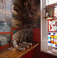 The walls of the first-floor loo are papered with the proofs of Lord Snowdon's book 'A View of Venice'