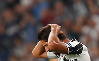 Calcio, Champions League: Juventus vs Siviglia: Torino, Juventus Stadium, 14 settembre 2016. <br /> Juventus&rsquo; Sami Khedira reacts during the Champions League Group H football match between Juventus and Sevilla at Turin's Juventus Stadium, 16 September 2016.<br /> UPDATE IMAGES PRESS/Isabella Bonotto