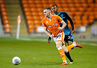 Blackpool's Oliver Turton gets away from West Bromwich Albion U21's Rayhaan Tulloch<br /> <br /> Photographer Alex Dodd/CameraSport<br /> <br /> The EFL Checkatrade Trophy Northern Group C - Blackpool v West Bromwich Albion U21 - Tuesday 9th October 2018 - Bloomfield Road - Blackpool<br />  <br /> World Copyright &copy; 2018 CameraSport. All rights reserved. 43 Linden Ave. Countesthorpe. Leicester. England. LE8 5PG - Tel: +44 (0) 116 277 4147 - admin@camerasport.com - www.camerasport.com