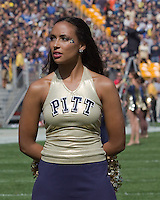 Pitt dance team member. The Pitt Panthers defeated the Virginia Tech Hokies 35-17 at Heinz field in Pittsburgh, PA on September 15, 2012.